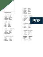 Ejerccios Para El Examen TERCERO GRUPO a Del 11 de Mayo