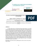 Wavelet Based Histogram Method for Classification of Textu