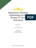 Maintenance Planning Optimization - Research Publication