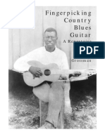 Fingerpicking country blues guitar