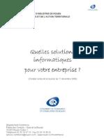 Choix Des Solutions Informatiques