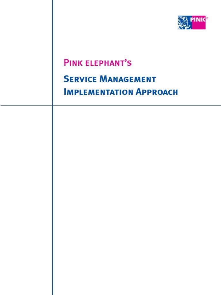 Pink Elephant Sm Implementation Roadmap Itil It Service Management