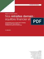 DP Rapport Sur l'Avenir Des Retraites