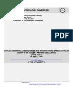 International Banking License Application