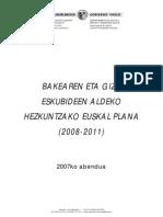 Bakearen Eta Giza Eskubideen Aldeko Hezkuntzako Euskal Plana 2008-2011pdf