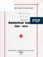 International Review of the Red Cross - Analytical Index 1961–1974