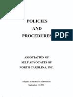 ASANC Policies and Procedures - September 15, 2001