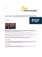 Letter of the Lords - June 14, 2013