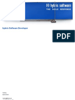 Hybris Software Developer - Agenda