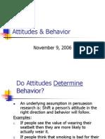 Attitudes Behavior