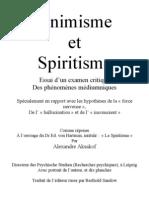 Animisme Et Spiritisme