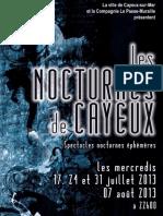 """Création sonore et visuelle  pour """"Les Nocturnes de Cayeux"""" 2013"""