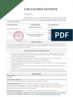 Avis de Vacance M+®decins CRF 06-2013