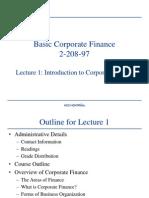 Basic Corporate Finance