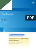 Best Practices SAP BI Modelling-Performance Tunning