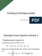 Cinétique Chimique (suite) (1)