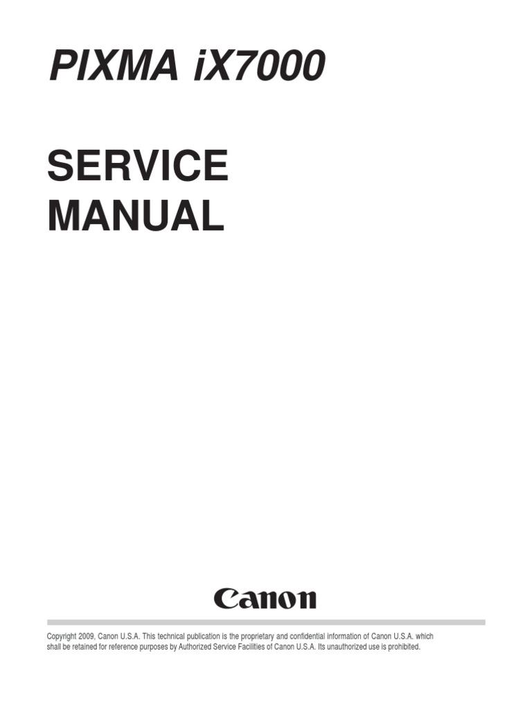 canon pixma ix7000 sm pdf printer computing printing rh es scribd com Lenovo S10-3 Battery Lenovo S10-3 Battery