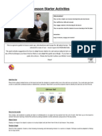 starters pack teaching and learning group