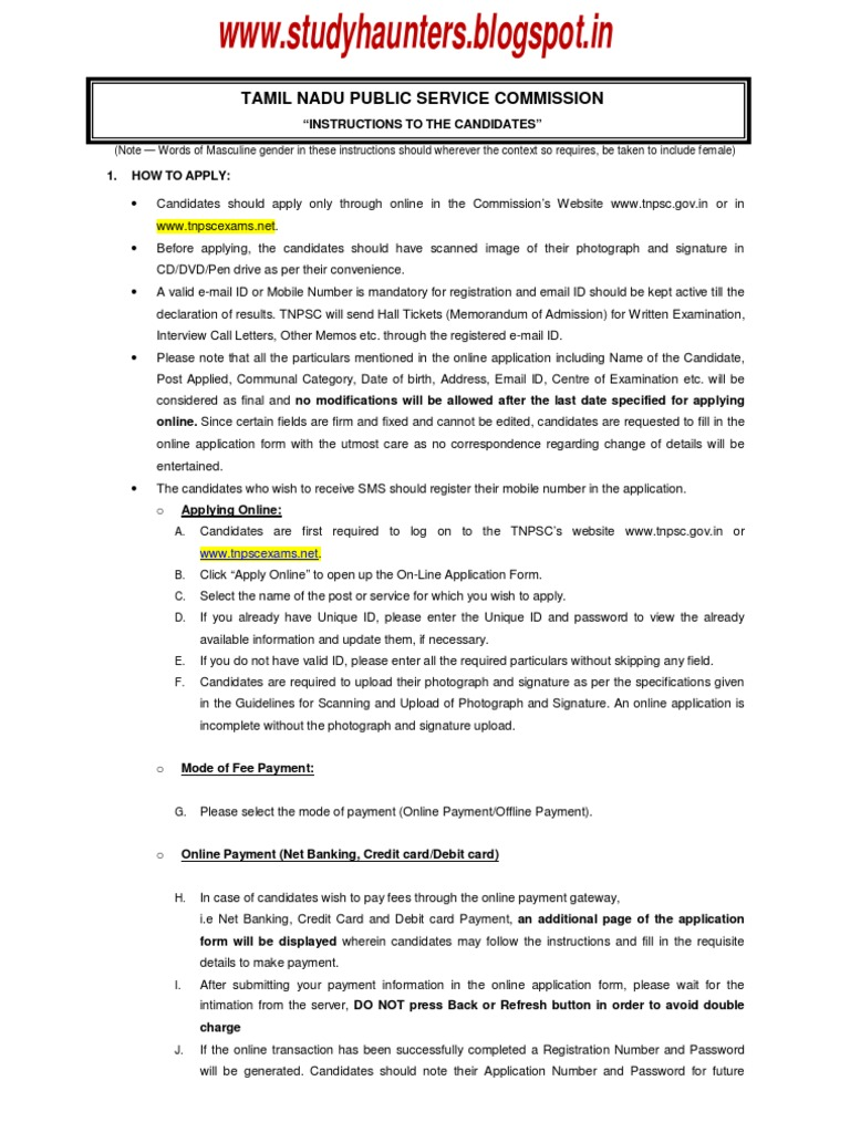 Instruction to tnpsc group iv exam candidates military discharge instruction to tnpsc group iv exam candidates military discharge debit card aiddatafo Gallery