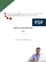 Load Balancer Appliance v7.5 Schnellstart Handbuch, 44 Seiten