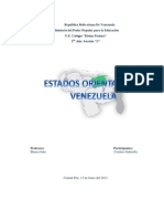 Estados Orientales de Venezuela