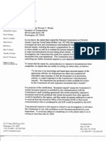 SD B5 Dept of Transportation Fdr- Letters Re Certification of Doc Request Production 403