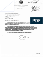 SD B5 Dept of Treasury Fdr- Certification of Compliance With Doc Requests- Status Letters- Doc Indexes- 1