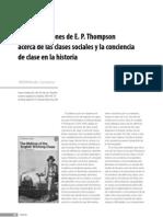 Hernán Camarero - Las concepciones de E. P. Thompson acerca de las clases sociales y la conciencia de clase en la historia