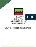 2013 Program Agenda