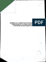 Normas de la American Psychological Asociation para las Citas y Referencias Bibliográficas