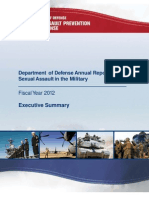 Pentagon Report on Sexual Assault in the Military in 2012