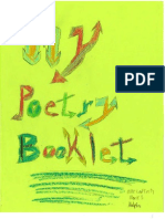 My Poetry Booklet, by Mike Lafferty