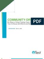 uTest Whitepaper Community Driven QA