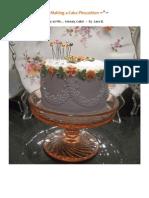 Making a Cake Pincushion
