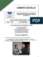 O MONTE CASTELLO Ano II Numero 2 Fev 2013 Posses 2012