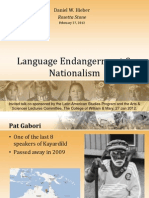 Hieber - Language endangerment & nationalism