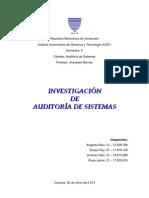 Trabajo de Auditoría de Sistemas
