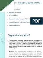 P3-CAPÍTULO 1 – CONCEITO GERAL DA POO