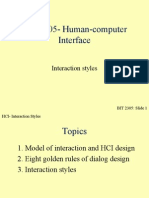 BIT 2305 Lecture 2b Interaction Stlyes