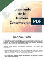 Surgimiento de La Historia Contemporanea