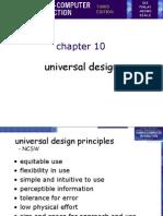 Chap 10[1] Universal Design