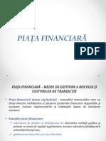 CAPITOLUL 18 Piata Financiara Prezentare