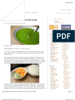 Jamie Oliver's Pea and Mint Soup