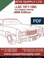 Cadillac 1971-1985 Catalog USA PARTS