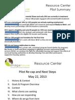 Resource Center PPT PilotOverviewwithSummary