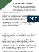 Fraction for Covenant Thursday