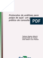 EMBRAPA - Análise das Propriedades do Açaí LI02_2009