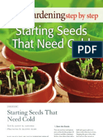 Starting Seeds That Need Cold