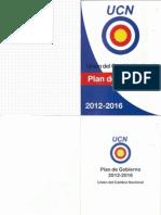 Plan de Gobierno UCN - 2012-2016