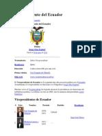 Vicepresidente Del Ecuador